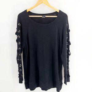 Torrid Plus size Black Long Sleeve Top
